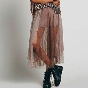 Free People Plum Fairy Tutu Maxi Skirt